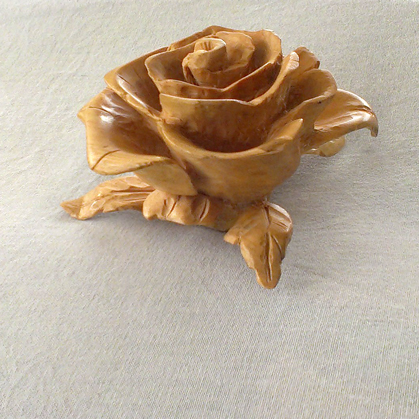 Rose carved of wood by byMichaelX