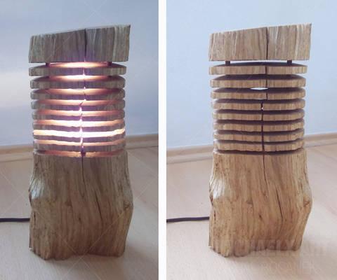 My work - wooden lamp