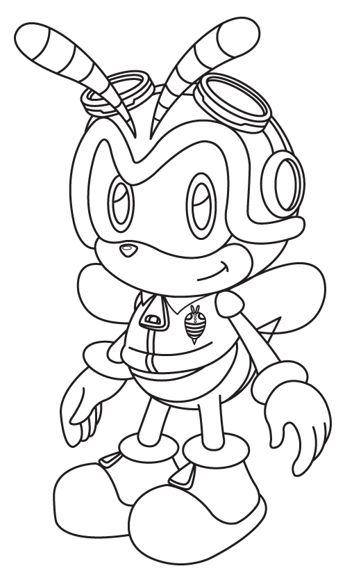 charmy bee coloring pages - photo#17