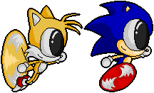 Sonic and Tails Pixeled by sonictopfan