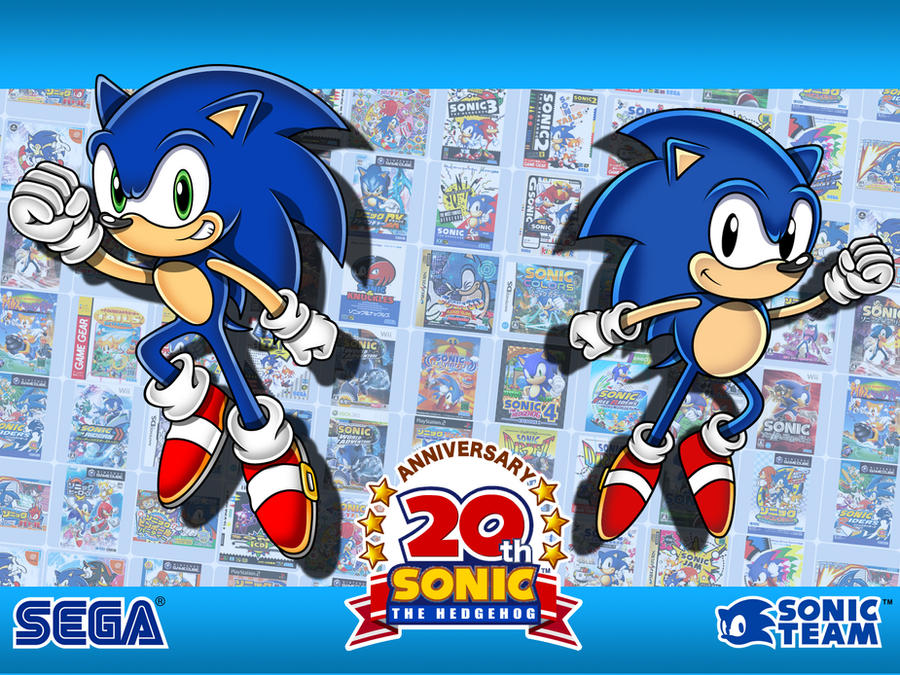 20th Anniversary Wallpaper by sonictopfan