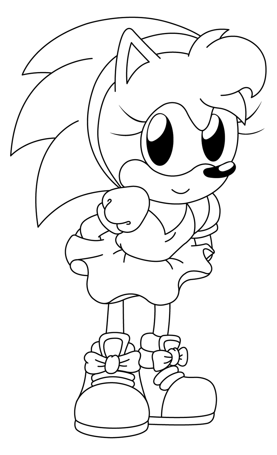 sonic amy swimming coloring pages - photo#1
