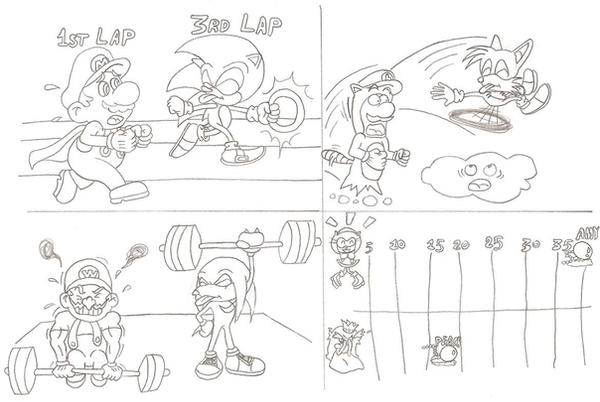 Sonic and mario olympics by sonictopfan on deviantart for Mario and sonic coloring pages