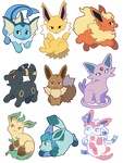 eeveelution stickers!