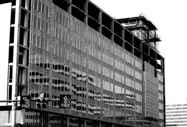 clark construction i - b n w by koi