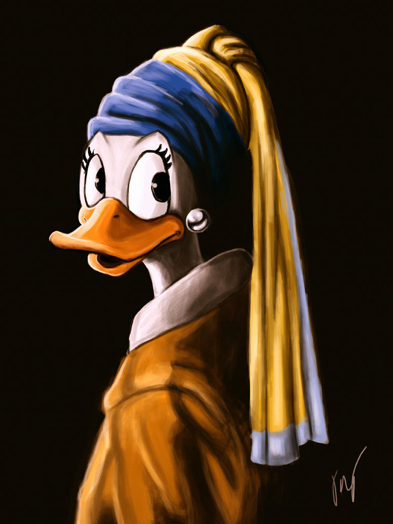 Duck With A Pearl Earring by tomimt