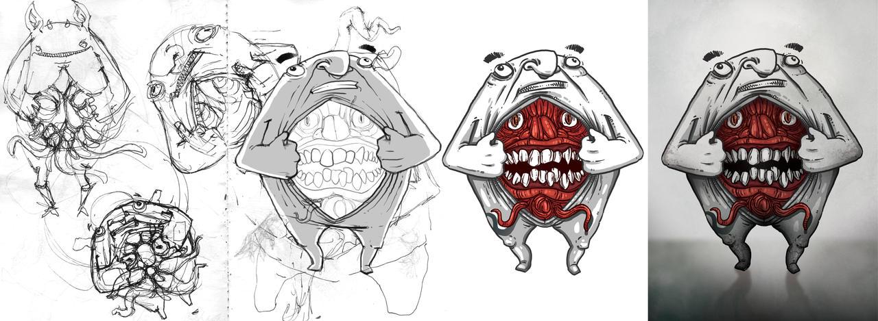 Evil Inside (Step by Step) by WladART