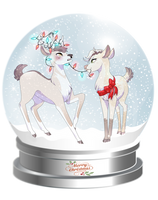 Christmas Deer by NovaBerry