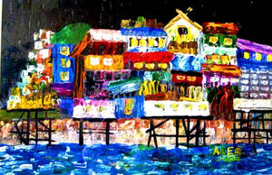 VENICE OF MANILA BY NIGHT by areeTheArtist