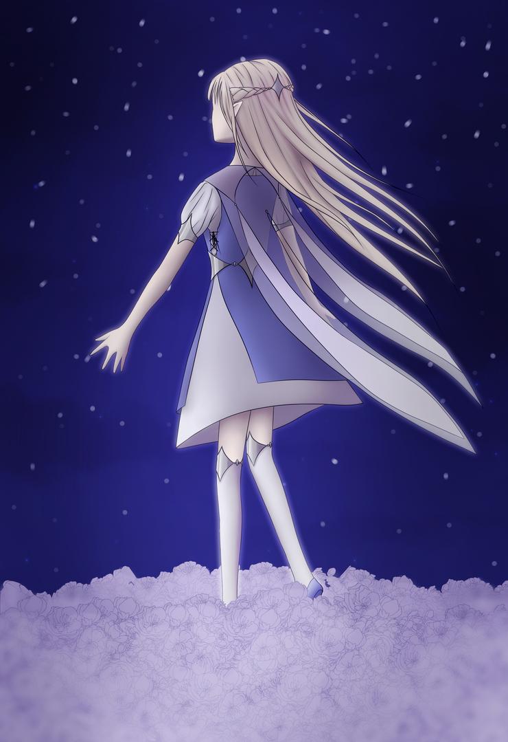 Flower in the Night Sky by Endergirl01