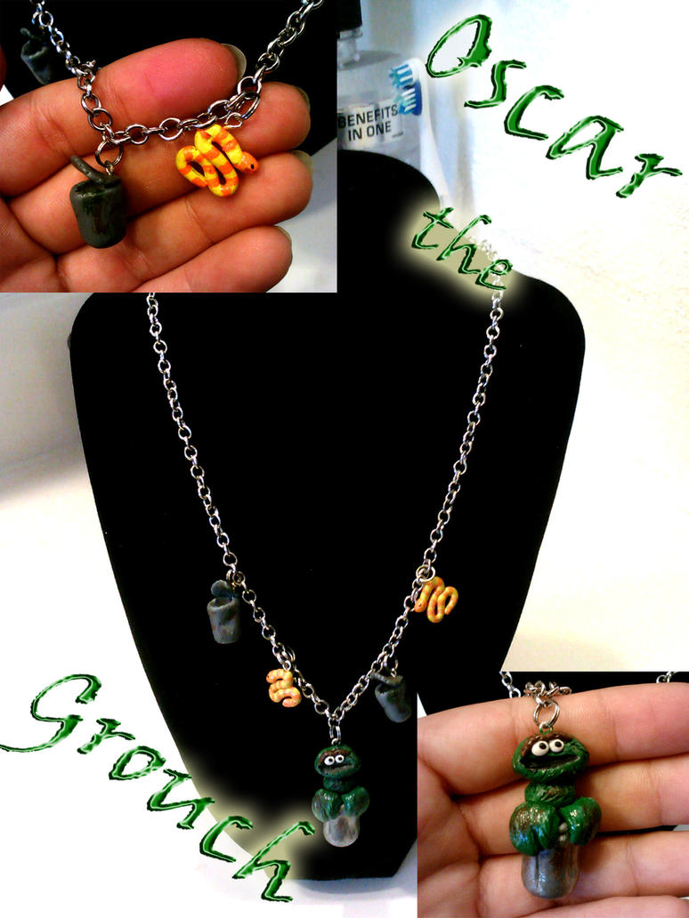Oscar the Grouch Necklace by AshiviAlpha