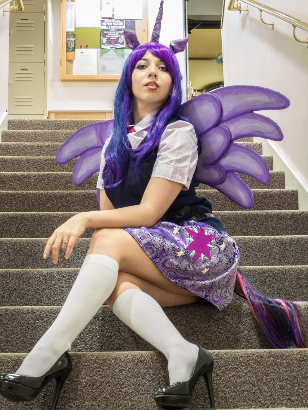 Twilight sparkle mlp cosplay upskirt