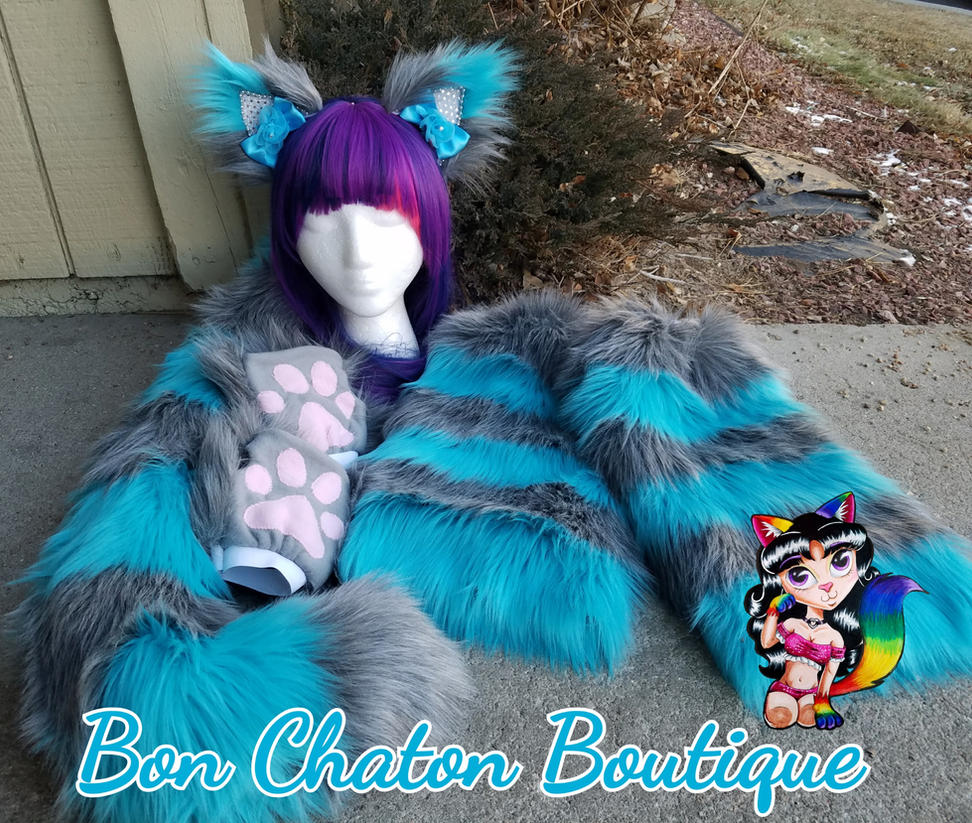 Blue/Grey Faux Fur Cheshire Set by AshiviAlpha