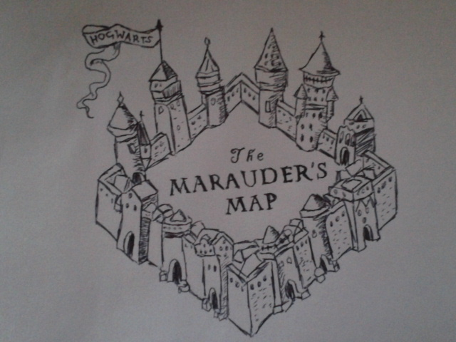 Marauders map by Rennowijaya on DeviantArt |Marauders Map Drawing
