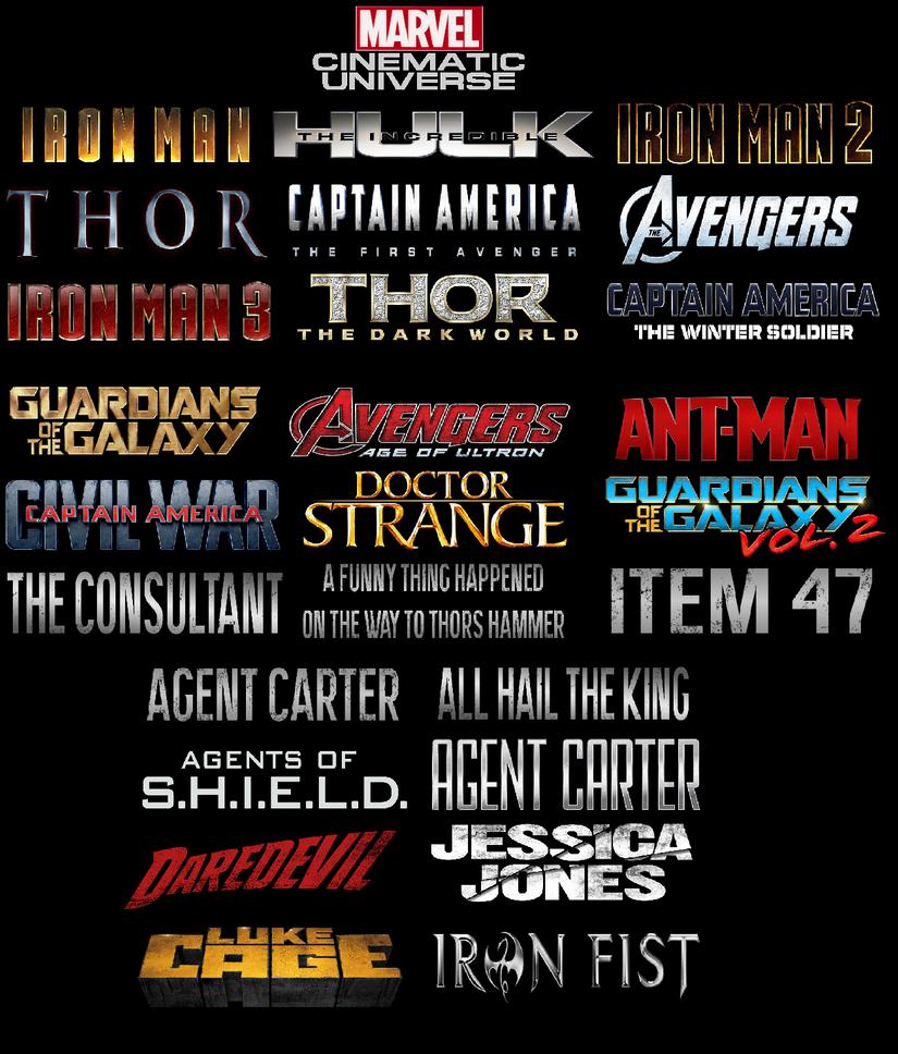 Marvel Cinematic Universe by BendingMasterB10TD