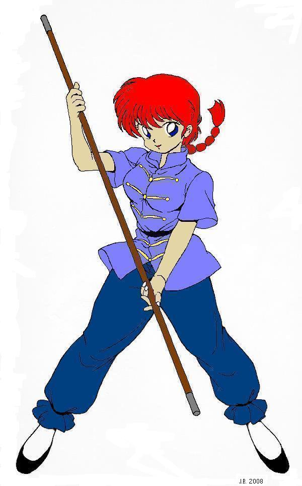 Ranma-chan with bo staff by Ranmano1fan