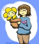 Frisk Carrying Flowey