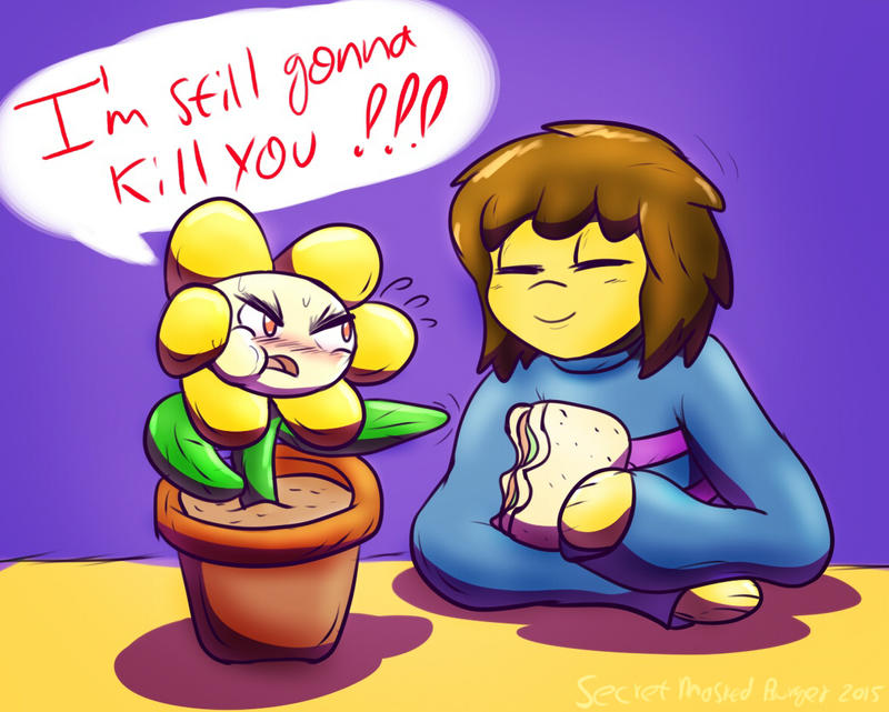 Ohh Flowey... by SecretMaskedBurger