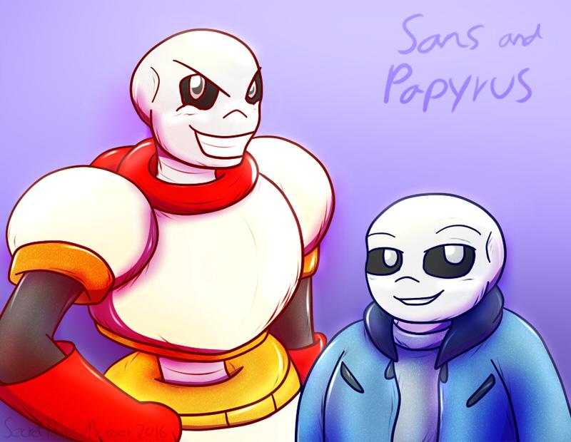Sans And Papyrus By SecretMaskedBurger On DeviantArt