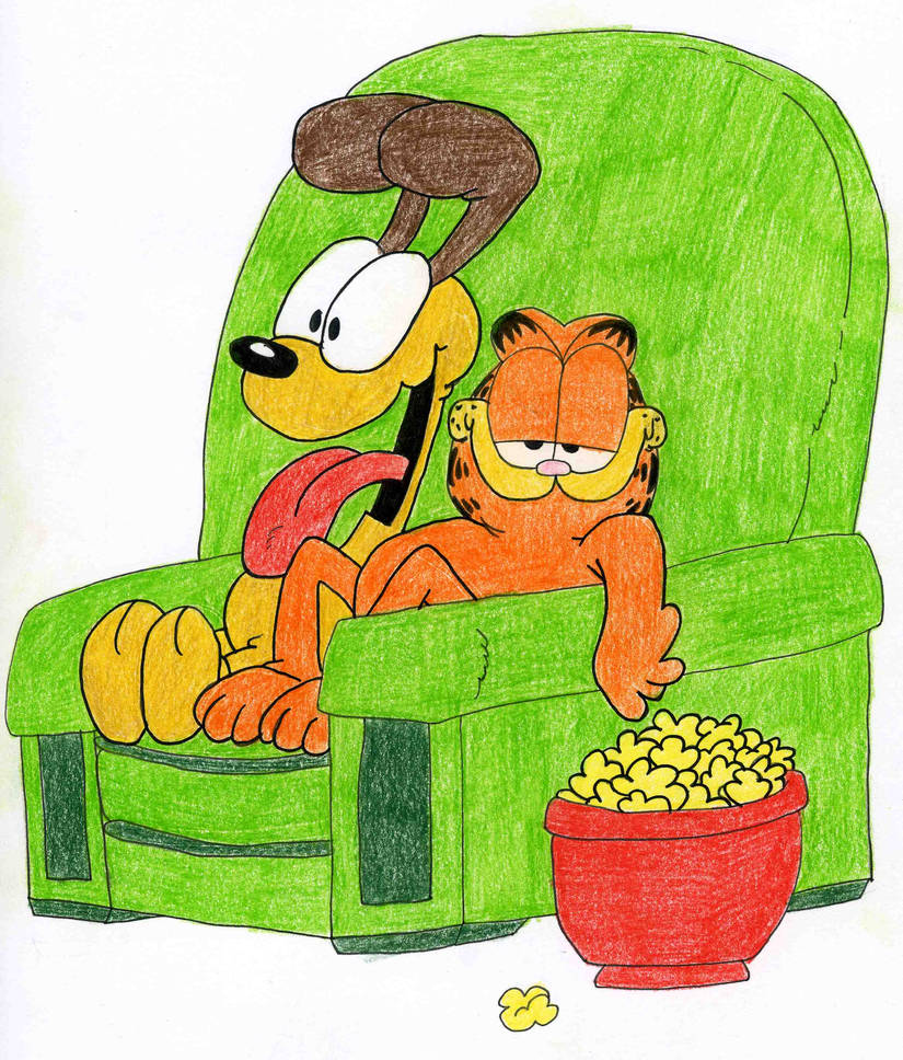 Garfield And Odie By Jane Rt On Deviantart