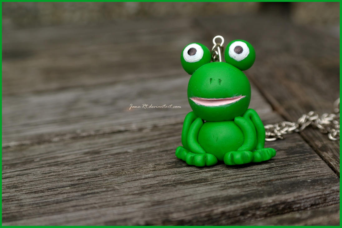 Polymer Clay - Froggie! by Jane-Rt