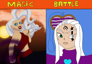 Magic Battle: Rachel Vs Aurore by SarahGoodwill