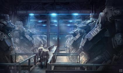 War Tech Mech Hangar by Andrew-Lim