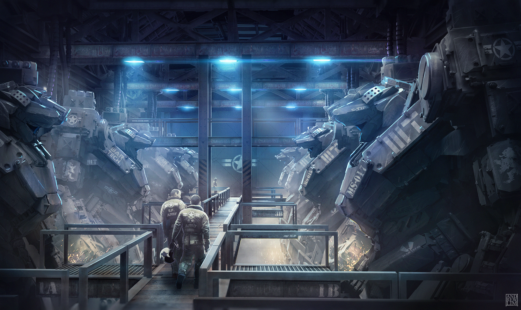 War Tech Mech Hangar By Andrew Lim On Deviantart