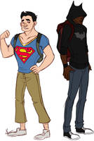 Bats 'n Supes by pugbytes