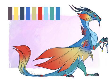 ADOPTABLE   Queztal Dragon