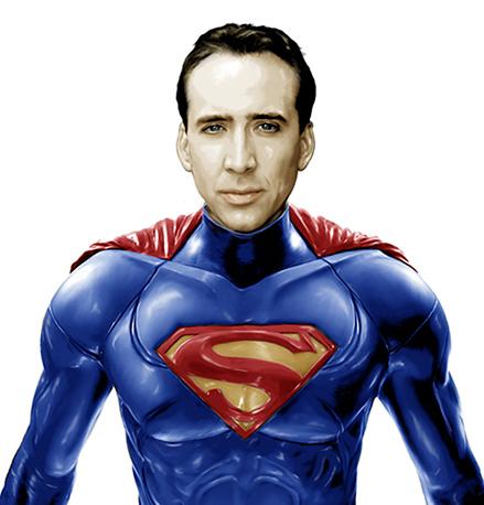 Nicolas Cage as Superman by GRDavid