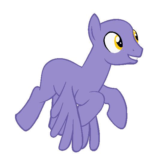Pegasus Stallion Base by EdgeofFear