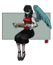 [COM] winged and studious by level5pencil