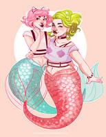 Pastel mermaids by HetteMaudit