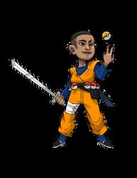 Commissioned Sketch - Pokemon Trainer Adarius by seto