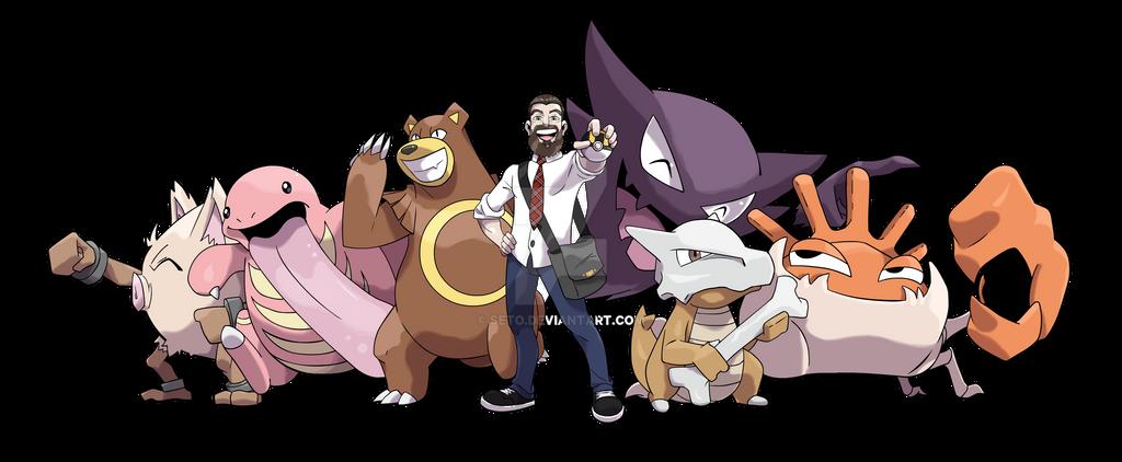 comm pokemon trainer w team by seto on deviantart