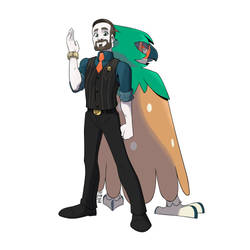 Commission - Pokemon Trainer + Decidueye by seto