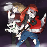 Commission - Gal and Dog + Buffy The Vampire Slaye by seto