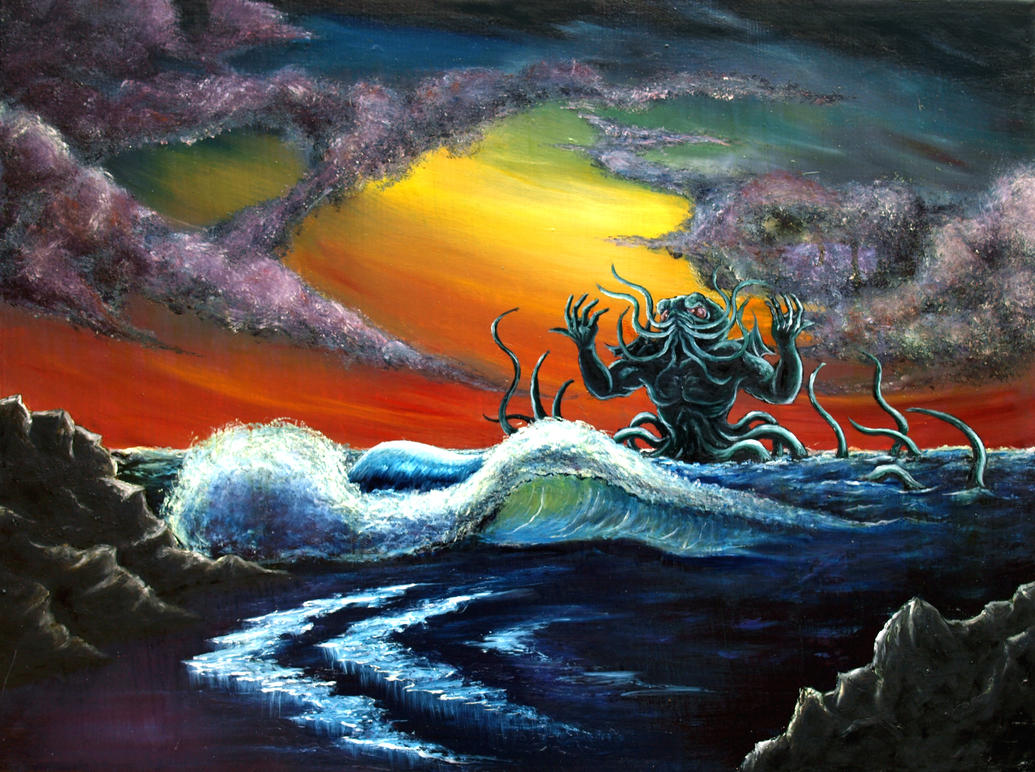 Bob Ross Oil Painting