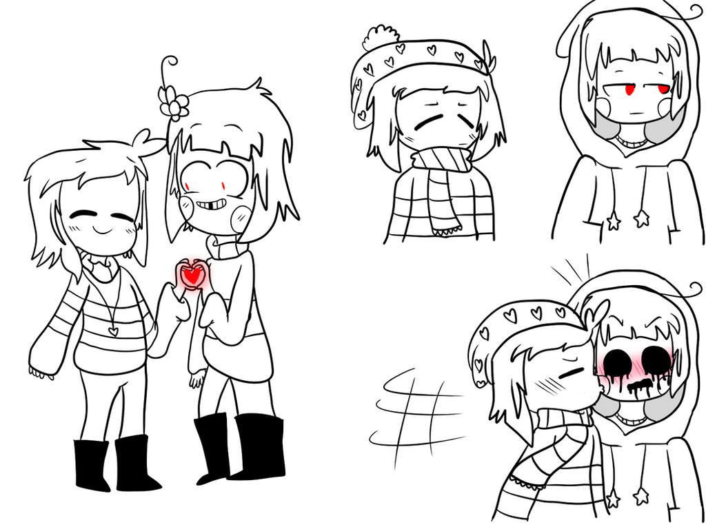 Undertale And Storyshift Charisk Doodles By Zezzie-bub On