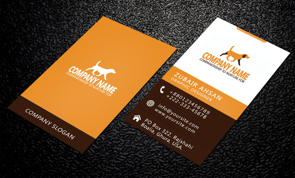 Simple and Clean Business Card PSD Template by Zubairahsan14 on ...