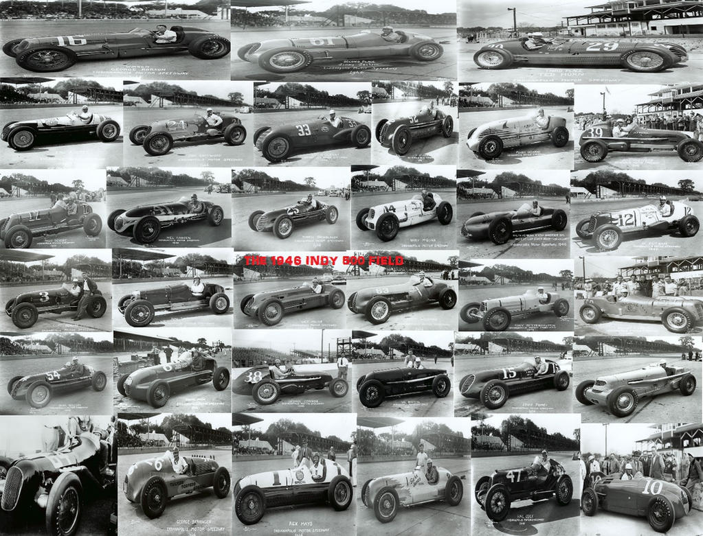 The 1946 Indy 500 Field by GoodCaptainClack