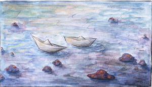 Paper Boats by PaperB0at