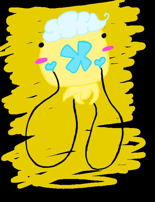 Shiny drifloon doodle by Saria48