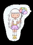 :Yara The Baloon Lover: by Saria48