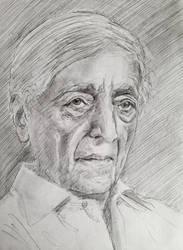Jiddu Krishnamurti by TheDreadfulPencil