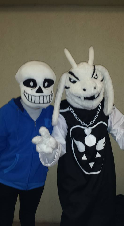 Asriel Dreemurr and Sans - Animecon 2015 by dogberman