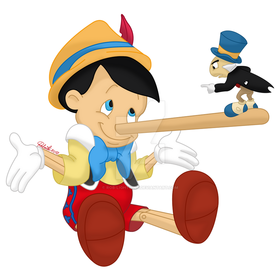 Pinocchio and Jiminy Cricket - colored by Rob-lightning