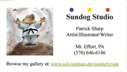 Cartoon Sundog Studio Card