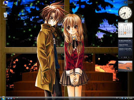 Ayumu and Hiyono Desktop by spooky11